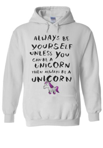 ALWAYS BE YOURSELF UNLESS Unicorn Hoodie Sweatshirt Jumper Men Women Unisex 1751