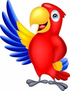 Oiseau Perroquet Dessin Autocollant Decalque Graphique Vinyle Etiquette Ebay