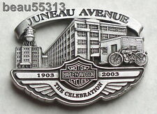 """""""OFFICIAL"""" HARLEY DAVIDSON 2003 100th ANNIVERSARY JUNEAU FACTORY VEST PIN"""