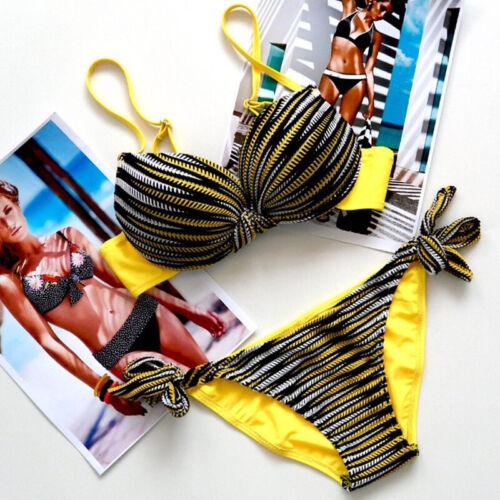 Womens Strappy Push Up Bikini Sets Padded Swimsuit Swimwear Beachwear Bathing