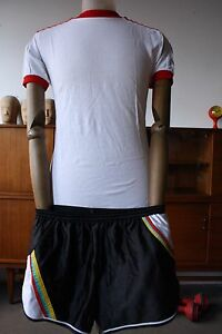 LUXPOL-funky-Sprinter-Sport-Trunks-TRUE-VINTAGE-Sporthose-80s-black-shiny-80er