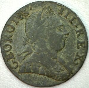 1775-Great-Britain-Half-Penny-VF-Very-Fine-Copper-Half-Cent-UK-Coin-K17