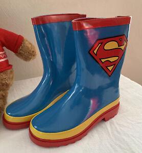 Superman Kids Boys Girls Rain Boots