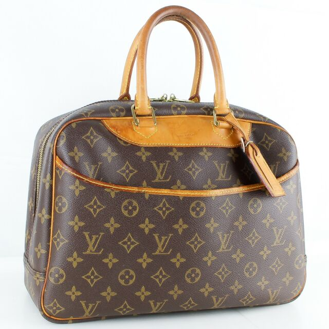 LOUIS VUITTON DEAUVILLE Hand Bag Purse Brown Monogram M47270