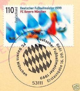 BRD-1999-FC-Bayern-Muenchen-Deutscher-Meister-Nr-2074-Stempel-Bonn-1A-1712