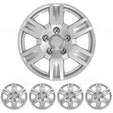 4 Piece Set 16 Inch Hubcap Silver Skin OEM Steel Wheel Replacement