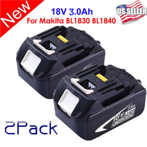 HOT-2PCS-18V-3-0Ah-LITHIUM-ION-BATTERY-LXT-FOR-MAKITA-BL1830-US-LATEST-PACK