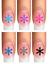 Indexbild 4 - Nail Tattoo Nail Art Schneeflocken Eiskristalle Winter Weihnachten + Glitter