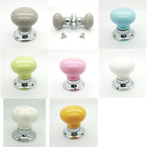 Coloured ceramic door knobs mortice door knobs set porcelain handles ...