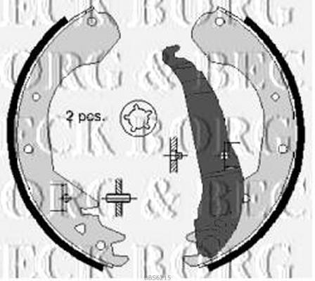 REAR  BRAKE SHOES FOR BEDFORD GENUINE OE BORG /& BECK  BBS6215