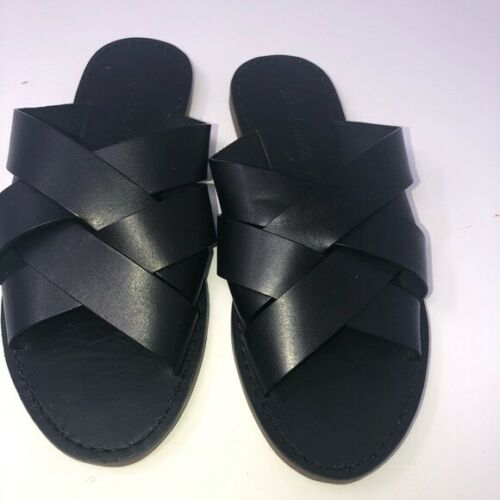 Madewell Boardwalk Woven Black Slide Women Shoe Sa