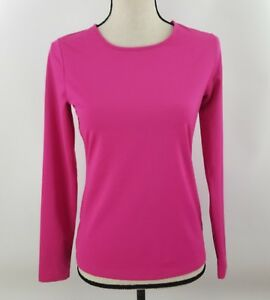 Women-s-LOU-amp-GREY-FORM-Pink-Long-Sleeve-Top-Zip-Back-Stretch-Size-XS-NWT
