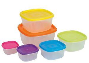 6pc Kitchen Storage Box Set Plastic Container Food Ebay