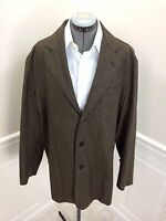 H. Freeman & Son Lightweight Tweed Sport Coat Jacket Brown Black 40r