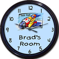 Motorcycle Scooter Chopper vroom Vroom Personalized Clock Bedroom 10