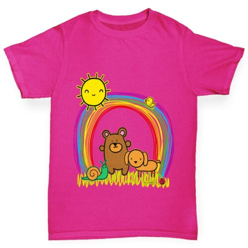 Twisted ENVY GIRL/'S RAINBOW Sunshine Pets T-shirt