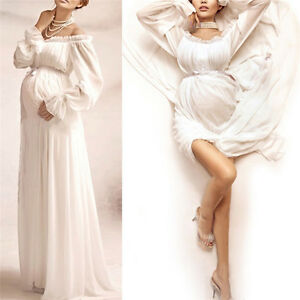 5c861382002 2019 Women Pregnant Wedding Party Maxi Dress Lace Maternity Gown ...