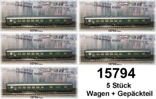 Trix Minitrix 15794 Express Train Wagon 2.klasse Class DB Pcs
