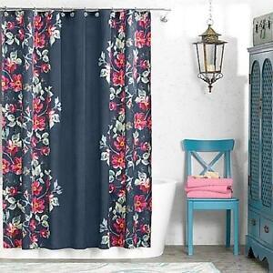 Image Is Loading NEW Anthology Penelope Shower Curtain Fuschia Green Gold