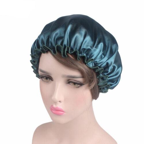 Women Satin Sleep Nightcap Soft Hair Care Headscarf Bonnet Elastic Hat Wholesale