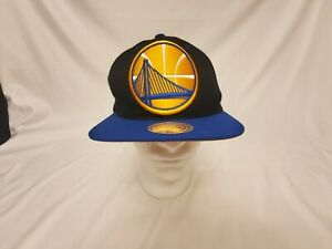 NBA Basketball Golden State Warriors Mitchell And Ness Hat Adjustable Snap Back