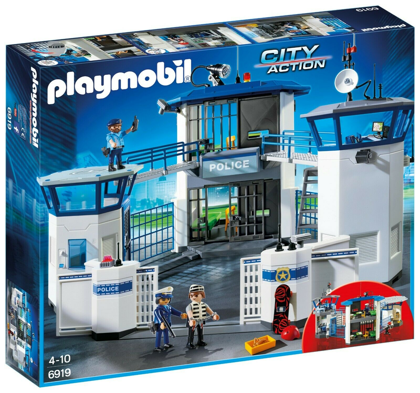 Playmobil市アクション警察本部ヘリコプター束6919と6921