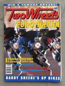 TWO-WHEELS-Sept-1995-GPZ-1100-HONDA-V25-XR-250-APRILIA-MOTO-6-5-TRIUMPH-GUZZI