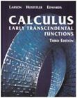 Calculus : Early Transcendental Functions by Ron Larson, Robert P. Hostetler and Bruce H. Edwards (2002, Hardcover)