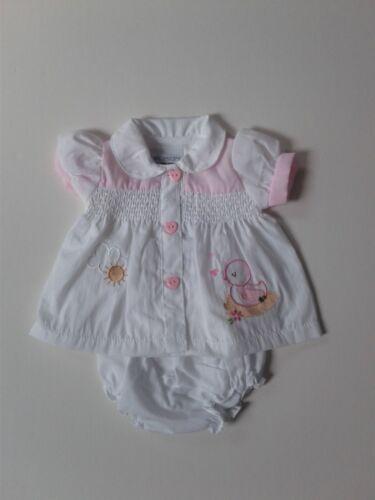 Premature preemie tiny baby girls clothes smocked dress pants set 3-5 lbs 5-8lbs