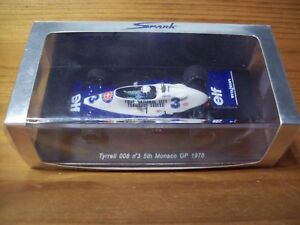 1/43 Spark S1731 Tyrrell 008 # 3 Didier Pironi 5ème Monaco Gp 1978