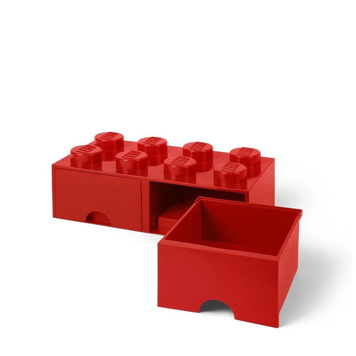 Lego 40061730. Ladrillo Lego Gigante Rojo. Contenedor almacenaje con 2 cajones