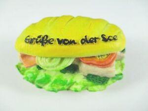 Fischbroetchen-Gruesse-von-der-See-Poly-3D-Magnet-Souvenir-Germany-Neu
