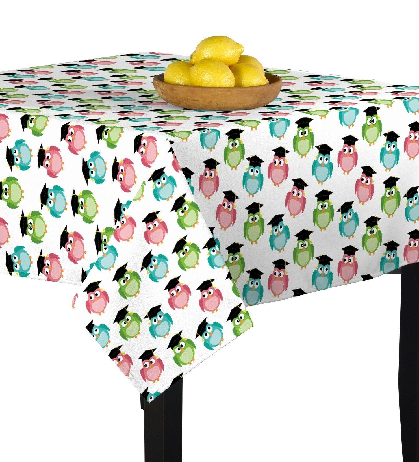 Graduation Owls Toss Signature Square Tablecloth Assorted Größes