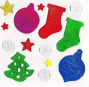 Xmas Glitter 3D Gel Window Home Sticker Label Novelty Party Decoration Frozen