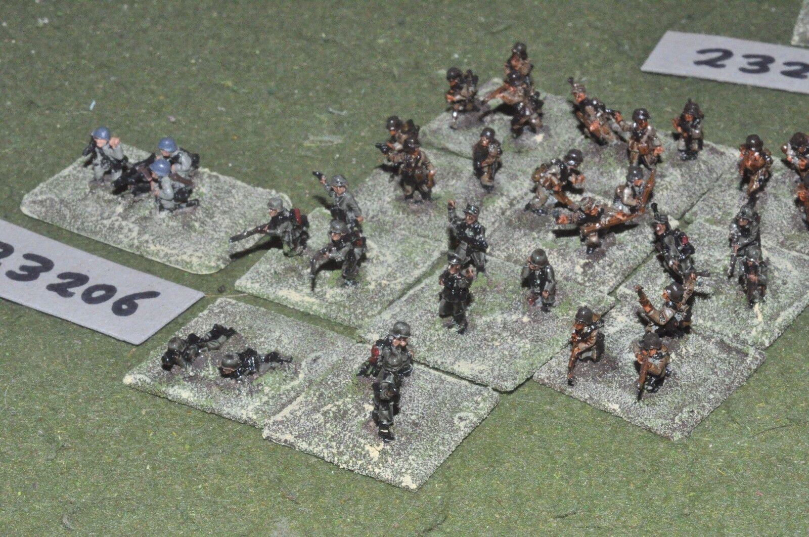15mm WW2   german - platoon 30 figures - inf (23206)