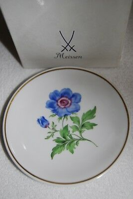 Original Meissen Wandteller Blumenmalerei Blume 11