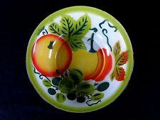 Vintage Porcelain Enamelware *** Metal Bowl - Wash Basin - Tub * FRUIT decorated