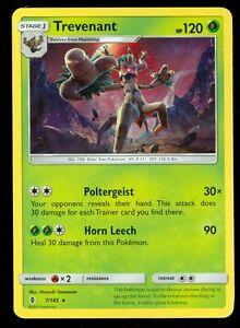 x4 Trevenant Rare Pokemon SM2 Guardians Rising M//NM English 7//145