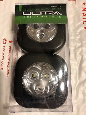 2 Pack Black Led Puck Light Aaa Batteries Included Self Adhesive Fast Shipping Geselecteerd Materiaal