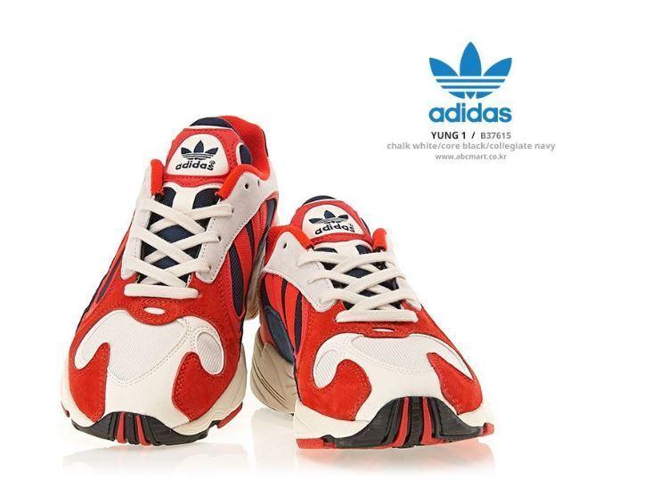 Adidas Yung - 1 blancoo-Rojo Zapatillas, Zapatos De Moda B37615