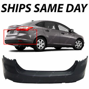 New Primered Rear Bumper Cover Replacement For 2012 2014 Ford Focus