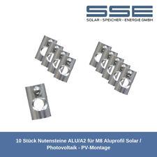 Set 10 Paar: Edelstahlschraube M8 X16 Befestigung Solarprofil Pv. Nutenstein