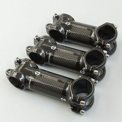 Carbon//Alloy Bicycle Stem MTB Road Bike Handlebar 31.8x110mm 6//17 Matte Gloss