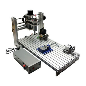 Details About Diy Cnc Router 3060 Metal Mini Cnc Milling Machine 4 Axis For Pcb Wood Carving