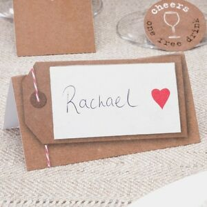 50 table place cards wedding just my type vintage name brown red
