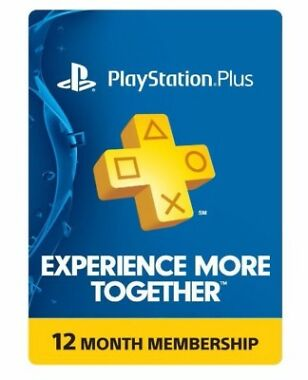 Sony PlayStation Plus 1-Yr Membership Card