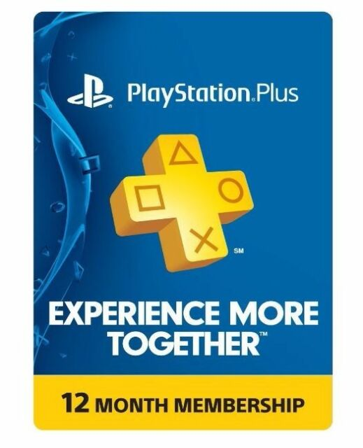 Sony Playstation Plus 1 Year Subscription Membership Card 3000133 For Sale Online Ebay