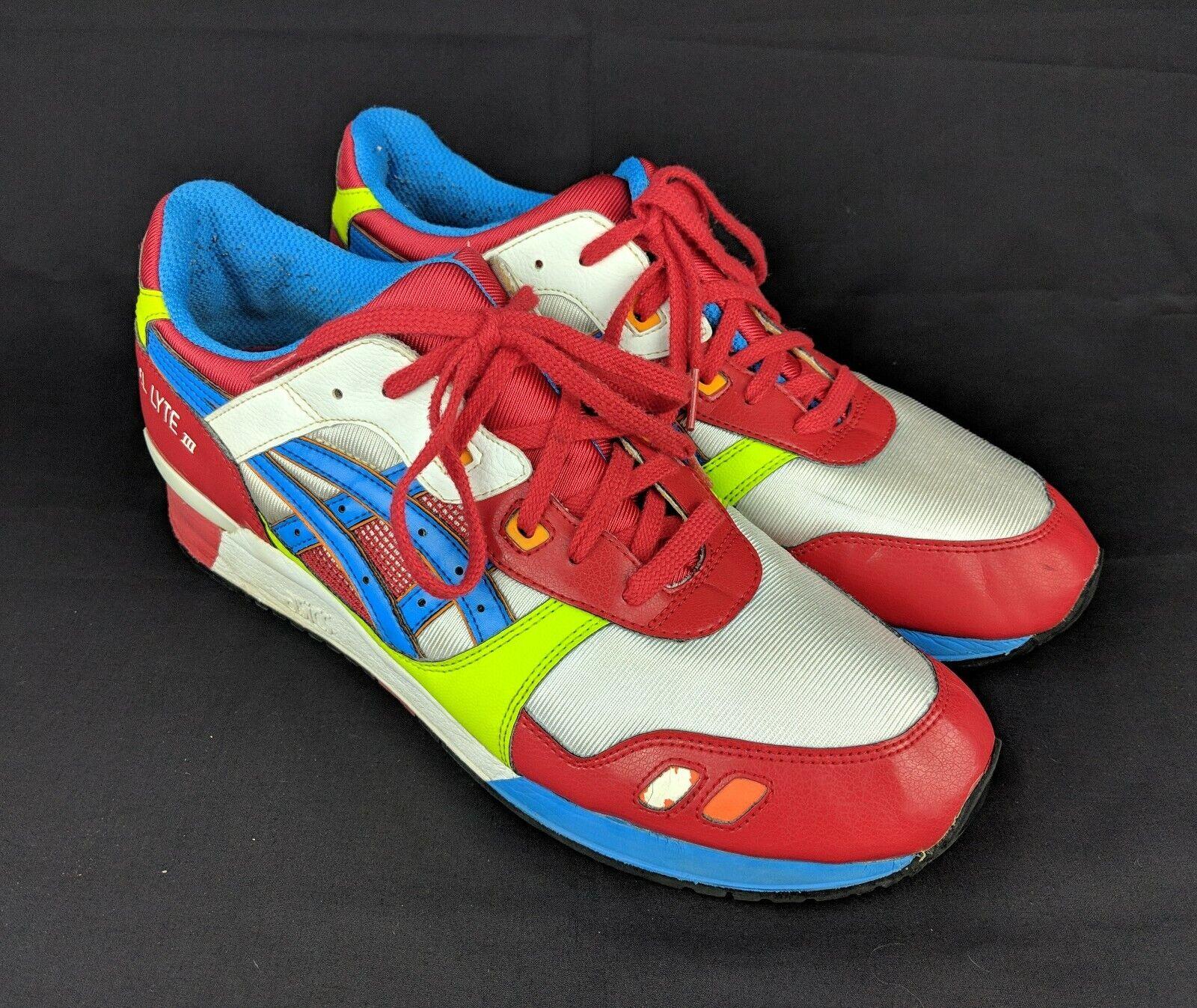 ASICS GEL LYTE III 3 athletic athletic athletic Sporty scarpe bianca blu  Flame HQ81K Uomo 13 GUC 632c00