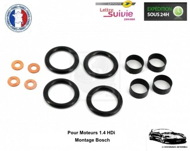 Kit Joint 4 Injecteurs pour Citroën Nemo 1.4 HDi - Montage Bosch - NEUF
