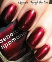 Deborah Lippmann Through The Fire Nail Polish Full Size Red Merlot